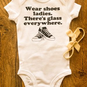 glass everywhere baby onesie
