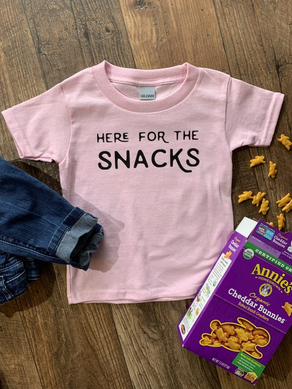 here for the snacks toddler t-shirt