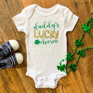 daddy's lucky charm onesie